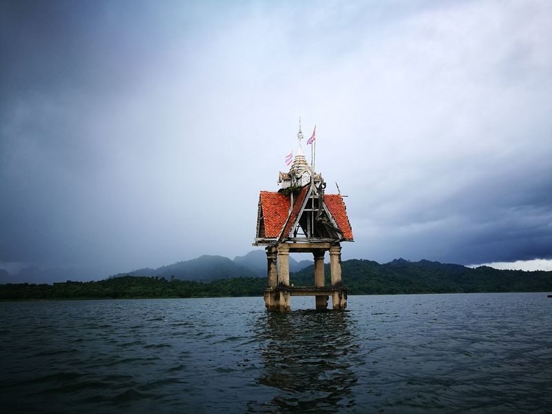 Temple under water Lake Temple Landscape Flag Nature Full Length Sky Nautical Vessel Me My Camera Love Photograph