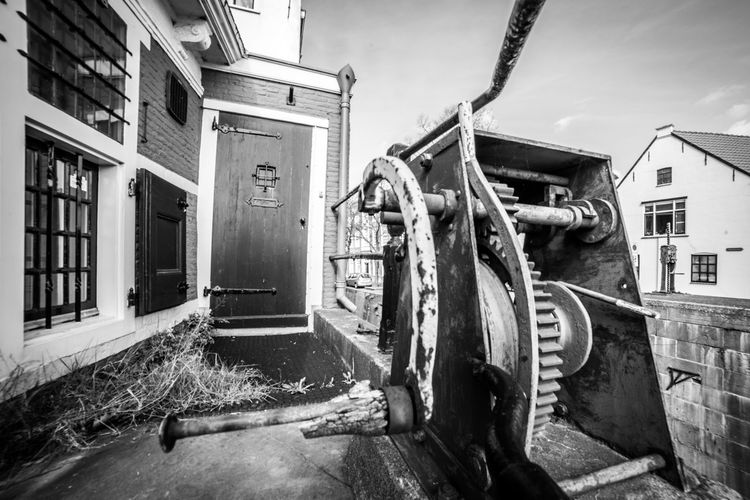 Gouda in black and white (1) Architecture Building Exterior Built Structure Building House Nature No People Day Water City Residential District Outdoors Old Sky Abandoned Machinery Technology Snow Industrial Equipment