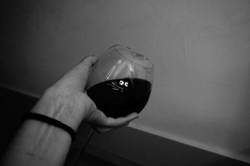 Wine Moments Human Hand Faceonwine Blackandwhite Wine