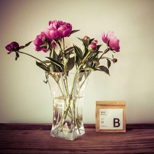 Vielen Dank für die Blumen! Und den Kaffee! - Krankenbesuch von @lila_farbfilm und @parriscope Danke  Pfingstrosen Bonanzacoffee