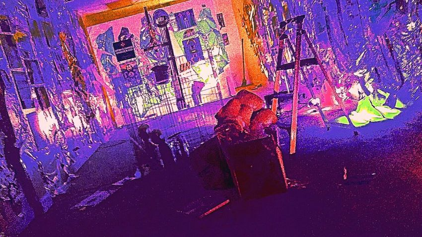Art Space ArtSpaceGallery Artspace Colorful Photo Color Explosion Colorfulmess Colorful View Colorful Mess Color Photography Colors Artstudio Art Studio Messy Room Messyroom Lighting Design Colorfullights Colorful Lighting Art Gallery Art Galleryspace Bless This Mess The Colors Dark Lighting  Dark Photography Colorful Darkness