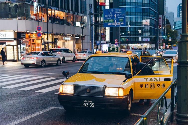 Tokyo Taxi Mode Of Transportation City Car Transportation Motor Vehicle Street Taxi City Life City Street Yellow Taxi Traffic Public Transportation Japan Tokyo Tokyo,Japan City Life City Street Motion Night ASIA Urban Society Tokyo Taxi Shinjuku