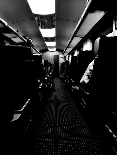 Emptiness Transportation Indoors  Train Traveling Regiojet Black & White One Person Empty Seated Relaxing Dots Quiet Moments
