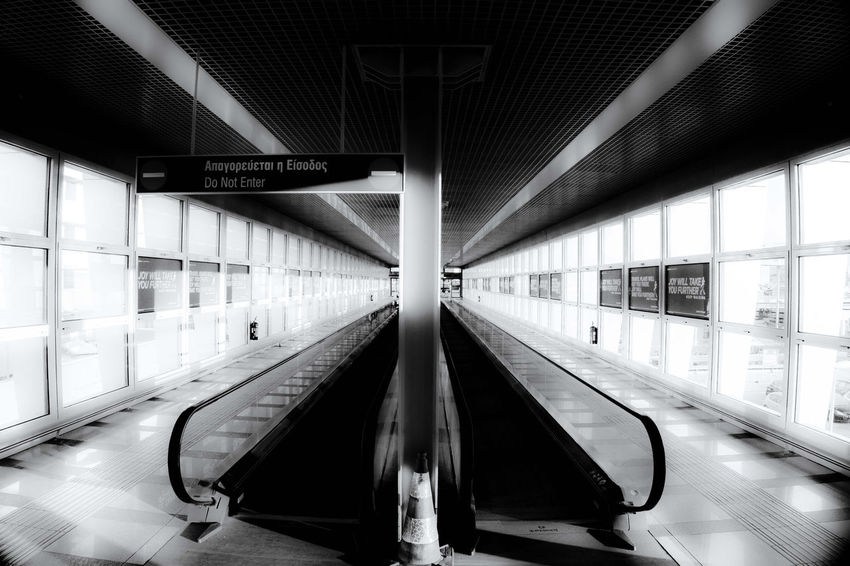Corridors Envision The Future Airport Blackandwhite Black&white Photography Black & White Streetphotography Streetphoto_bw Blackandwhite Street Urban Urban Geometry Urbanphotography Urban Landscape Future Travel Travel Photography Symmetry Athens Greece On The Way The Journey Is The Destination