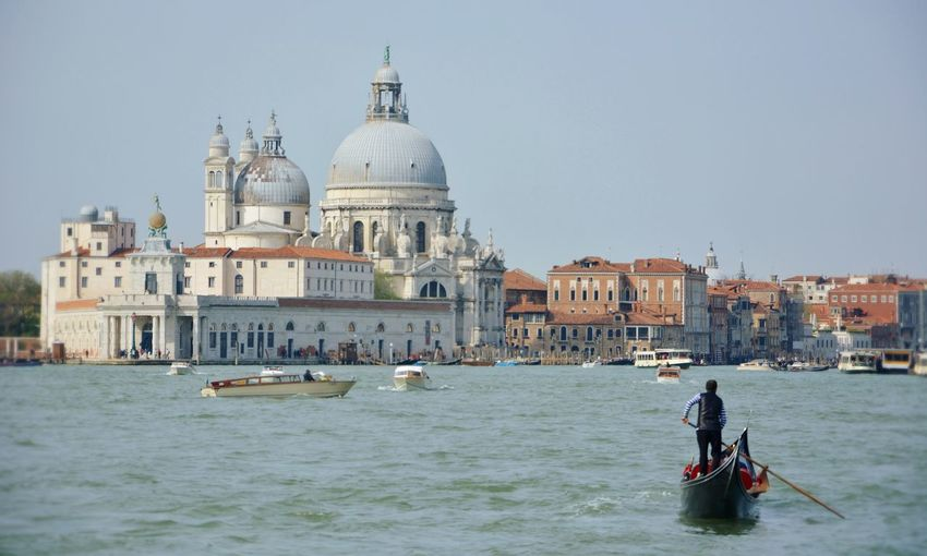 Nikon OpenEdit Travel Destinations Famous Place Travel Photography Gondola - Traditional Boat Water Nautical Vessel Dome Wave Architecture Gondolier Gondola Veneto Venice - Italy Canal
