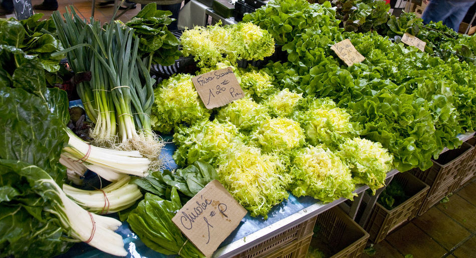 View of vegetables in market stall