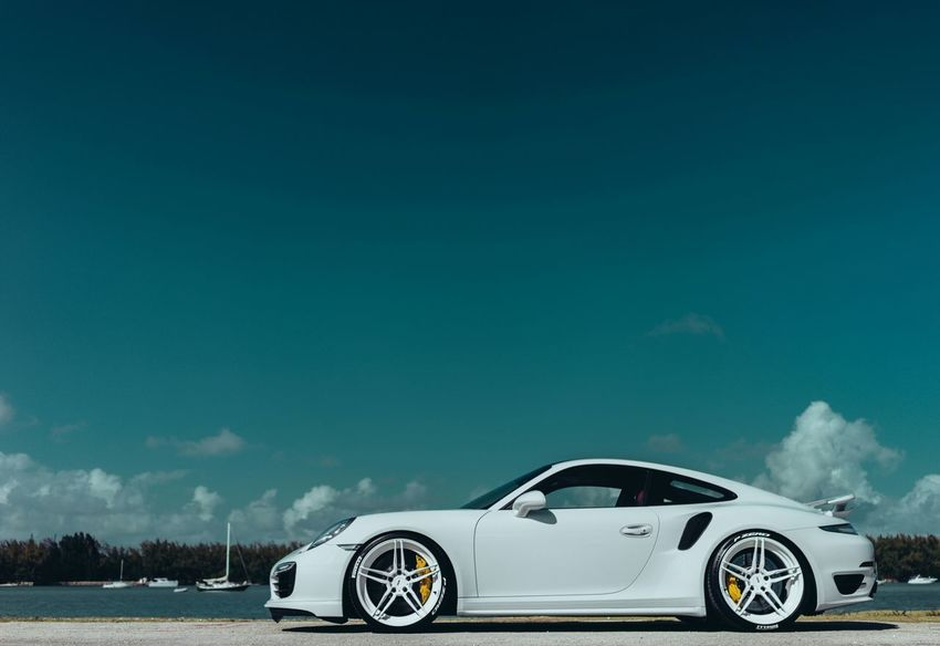 Porsche 991 Turbo S ❤ Porsche991 ADV1 Car Sky White Turbo Porsche Sonya7II Carporn Wheels