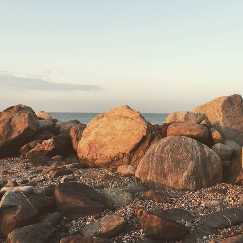 Beach Rocks Sea Beach Rocks Serine Natures Beauty Sea Sky Beach Land Water Nature Rock Rock - Object Tranquility Day Tranquil Scene Outdoors Horizon Over Water No People