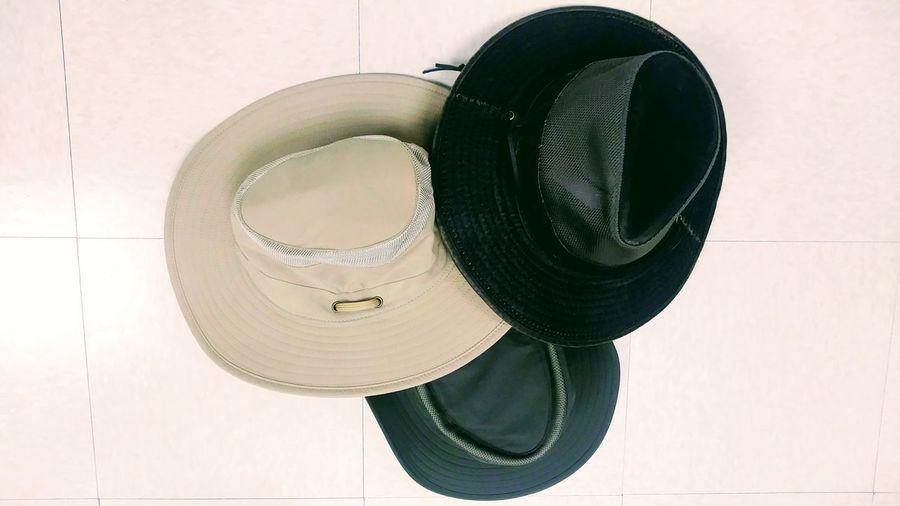 Sombreros Sombreros Black Brown Three Cream Baige Cachuchas Gorros Texture Fabric Close-up