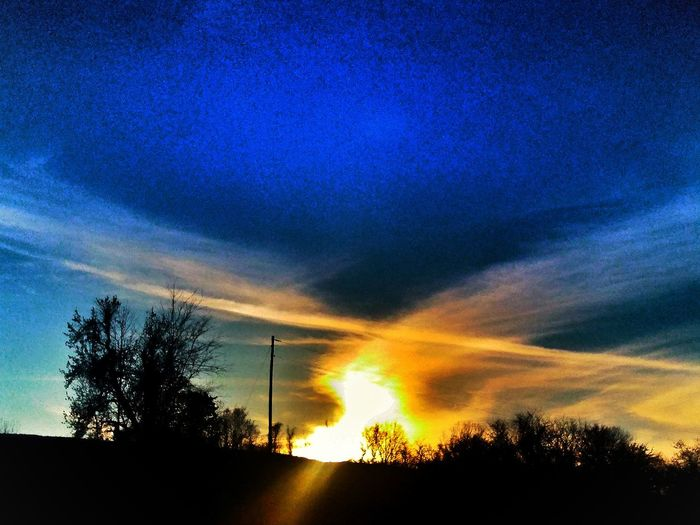 Sky Sunset No People Dramatic Sky Nature Outdoors Blue EyeEmNewHere