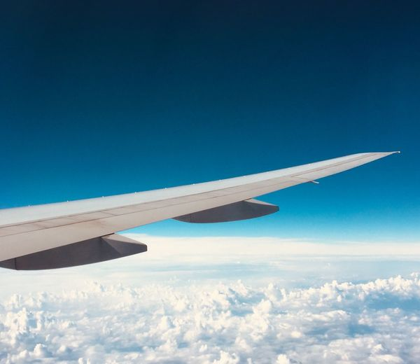 EyeEm Selects Sky Flying Aircraft Wing Blue Cloud - Sky Mode Of Transportation Travel Transportation