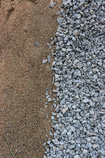 Sand,Crushed rock Blown Close-up Construction Materials Crushed Rock Nature Outdoors Sand Textured  Construction