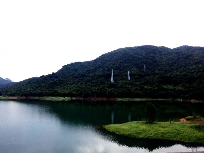 湖畔美景 Mountain No People Beauty In Nature Nature Tranquility Lake Tree Water Scenics Outdoors Day Sky
