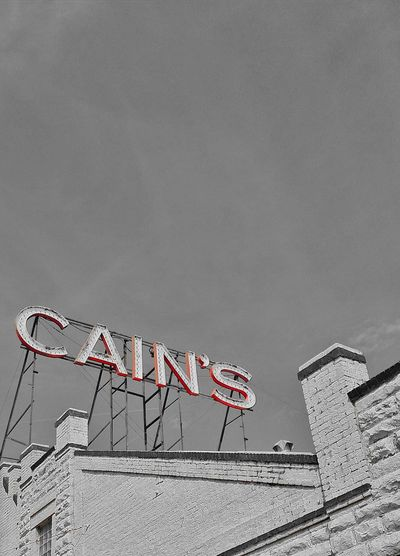 the rage in Cain's Sign Neon Vintage EyeEm Best Shots EyeEm Selects EyeEm Best Edits Design VSCO Old City Red Logo Blackandwhite Black And White Black & White Blackandwhite Photography Black And White Photography EyeEm EyeEmBestPics Bnw Monochrome Sky Retro Communication Arts Culture And Entertainment Text Sky Street Art Information Signboard