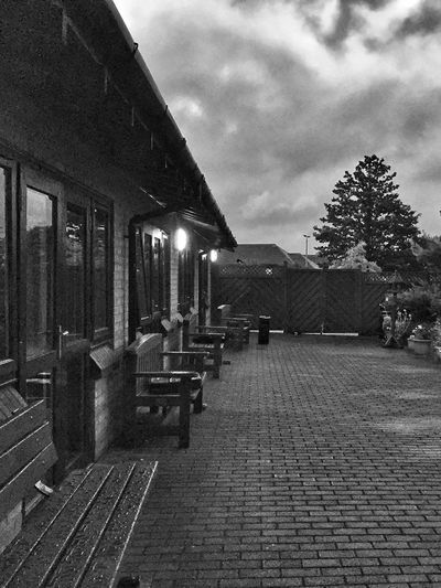 Architecture Built Structure Building Exterior Cloud - Sky Sky Outdoors The Way Forward Day No People Tree City JoMophoto IPhoneography Rain Blackandwhite Black And White Clouds And Sky Rainy Days