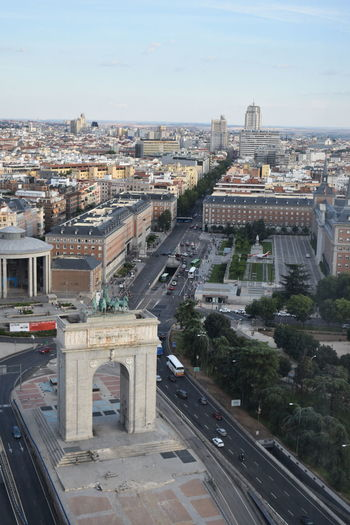 Imperial Arch No Filter, No Edit, Just Photography No Filter SPAIN Madrid View Moncloa City Cityscape Ferris Wheel High Angle View Urban Skyline Bridge - Man Made Structure Sky Architecture Building Exterior