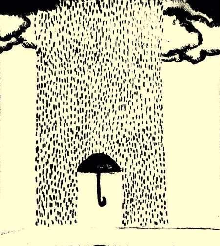 There where rain falls! Art Sketch Rain Melancholic drawing always expresses my thoughts :)