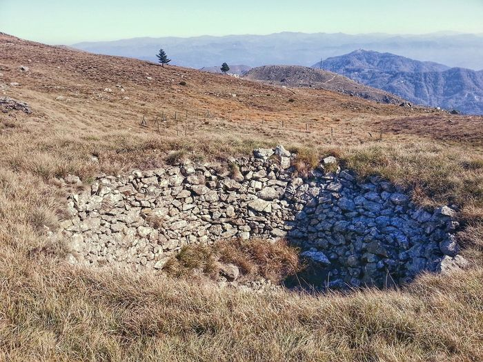 Ghiacciaia. Ice reservoir. I do not know the correct translation but it was built to accumulate and store snow (ice, when there were no fridges). Built Structure Stones Stones Structure Old Outdoors Day Nature Sky Landscape Mountains Appennino Ligure Punta Martin Praglia Mountain Range Android Photography Smartphone Photography Note 2 Liguria