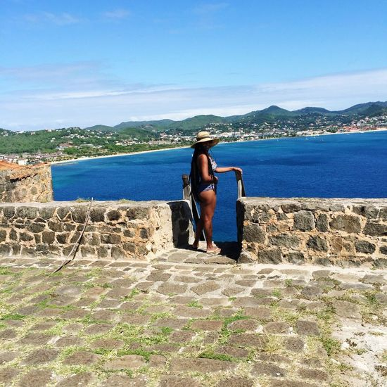 Pigeonisland St.lucia Fort Rodney Vacations build memories that last a life time. Rastawoman Tourist Hat