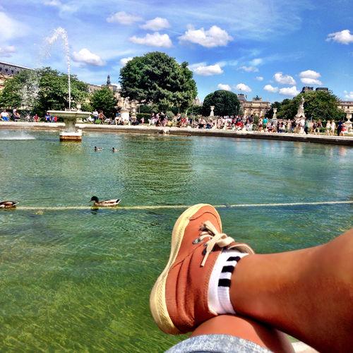 De boa na lagoa! AgoraéFrança VoupraParis Tchau Jardindes Tuileries