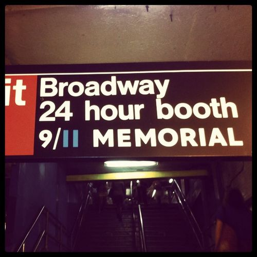 New signs up in the subway. City Light Freedom Spirit America NY USA Memorial Newyork 911 Newyorkcity NeverForget WorldTradeCenter Statigram Publictransportchallenge NYC September11th