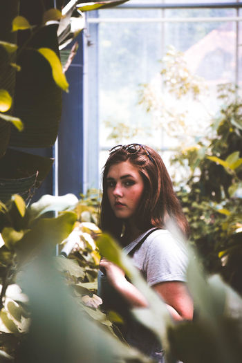 girl in the shade Nature Portrait Of A Woman Portraits Woman Beautiful Woman Casual Clothing Close-up Day Indoors  Landscape Lifestyles Nature One Person People Plant Portrait Photography Real People Standing Woman Portrait Women Young Adult Young Women