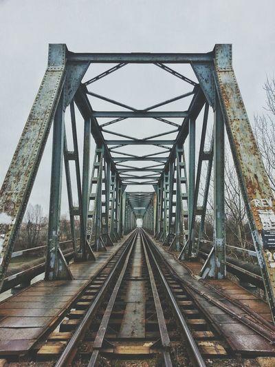 Railway Bridge Against Sky