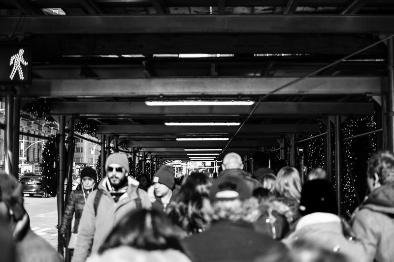 Go go go Crowded Street Scaffolding Street Photography City Life City New York NYC Group Of People Crowd Large Group Of People Real People Public Transportation Transportation Indoors  Architecture Travel Built Structure Illuminated Ceiling My Best Photo Streetwise Photography