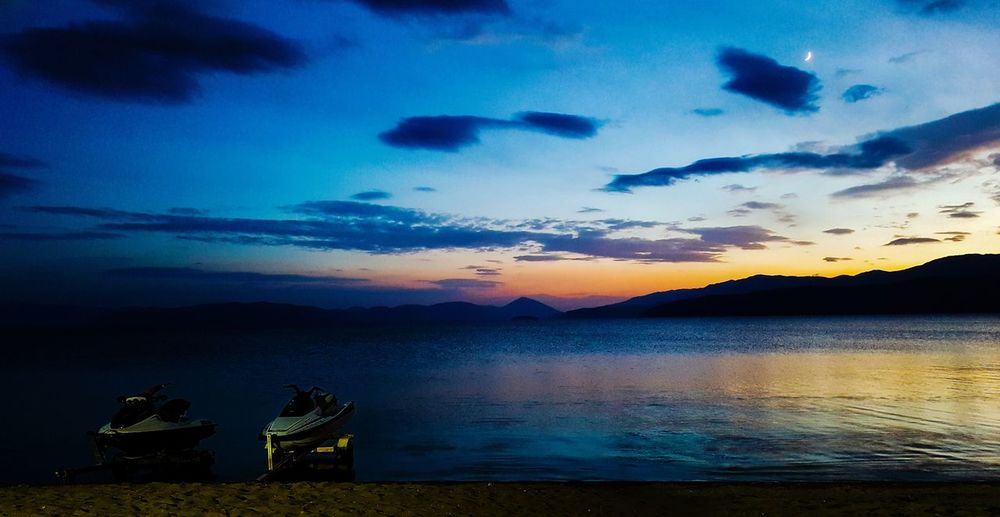 lake prespa macedonia Ohrid Lake Balkans Balkans Europe Macedonia Beach Golden Hour Sunset Sunset_collection Moon Water Sunset Lake Nautical Vessel Silhouette Blue Sky Cloud - Sky Landscape Star Field Romantic Sky Lakeshore