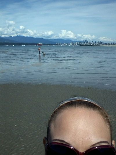 The Water was So so nice and warm. There's Downtown Vancouver behind me.