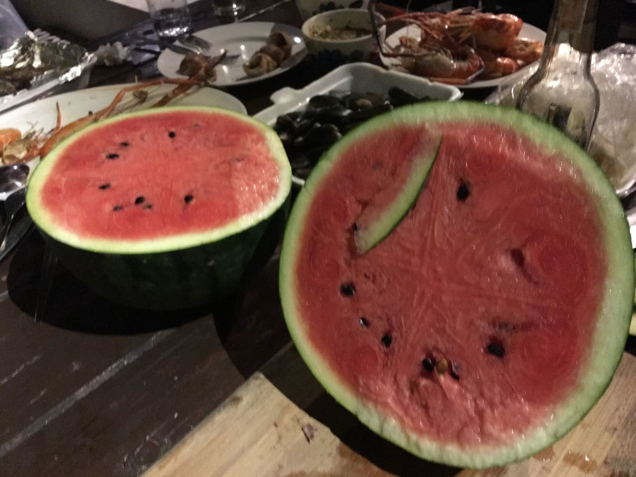 freshness, slice, healthy eating, food, food and drink, watermelon, cross section, table, fruit, indoors, no people, close-up, ready-to-eat, day