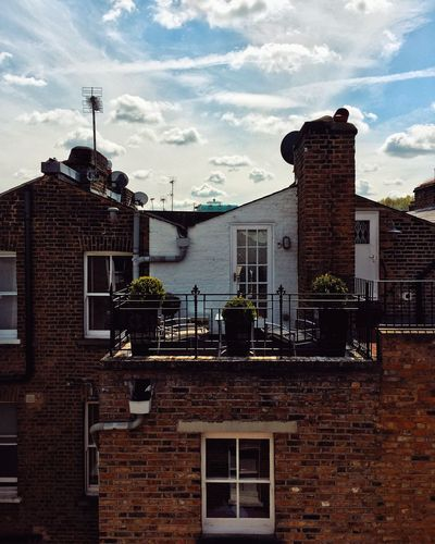 Series from the streets of London, UK City Cloud London Snapseed Architecture Blue Brick Brick Wall Building Building Exterior Built Structure Cilusse City Cloud - Sky Clouds Day House IPhone Iphonephotography No People Outdoors Plant Residential District Sky Window