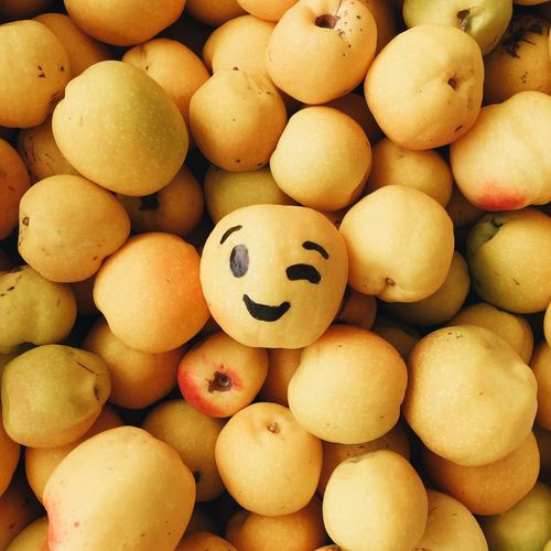 Stay positive 😉 IPS2015Color Fun Autumn Quince Fruit Emoji