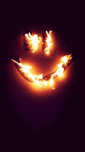 Fire Smiley Face