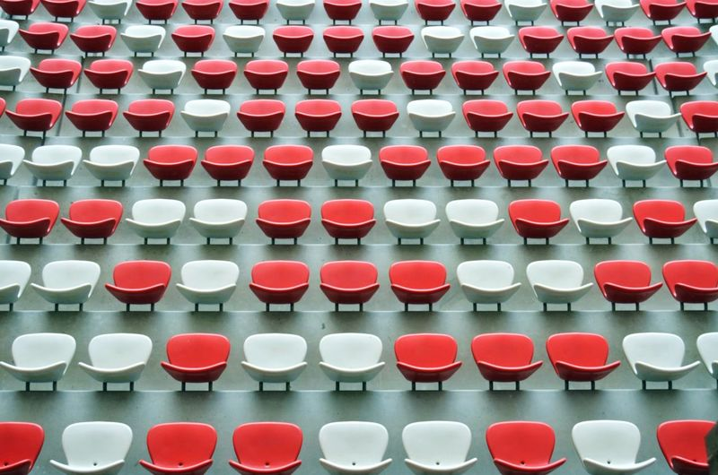 Sea of seats. Open Edit
