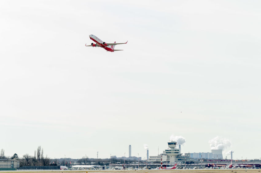 Flughafen Tegel TXL Air Vehicle Airplane Day Flying Mid-air Mode Of Transport No People Sky Tegel Transportation