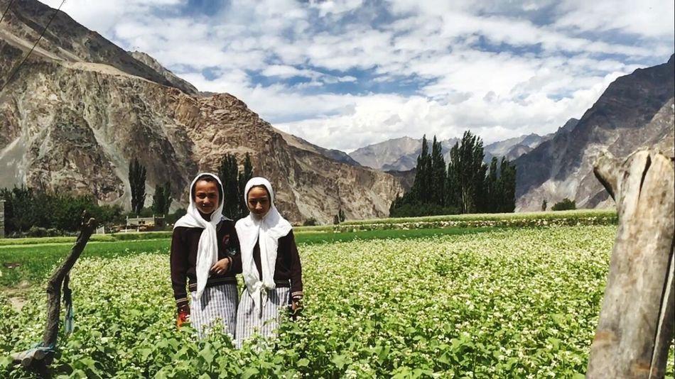 Togetherness Happiness School Uniforms Around The World SchoolGirl Turtuk Village Turtuk Flowers, Nature And Beauty
