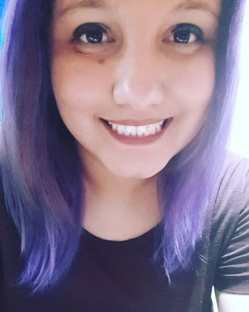 Portrait Looking At Camera Only Women Front View One Woman Only Adults Only One Person Smiling Young Adult Close-up Selfie✌ Selfıe Selfie Time Smile Purple Purple Hair Purple Hair Dont Care Purple Hair <3 Purple Color Self