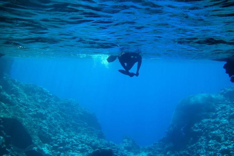 Cave Diving in Vava'u, Tonga Diving Snorkeling Tonga Vava'u Group Vavau Blue Cave Free Diving Pacific Islands Pacific Ocean