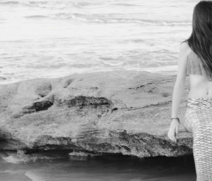 Sea Beach One Person Mermaid Mermaid Life MermaidLife Black And White Photography Black & White Real People Lifestyles Leisure Activity Young Adult Water Sand Young Women Wave Day One Woman Only Beauty In Nature Outdoors Nature Horizon Over Water One Young Woman Only