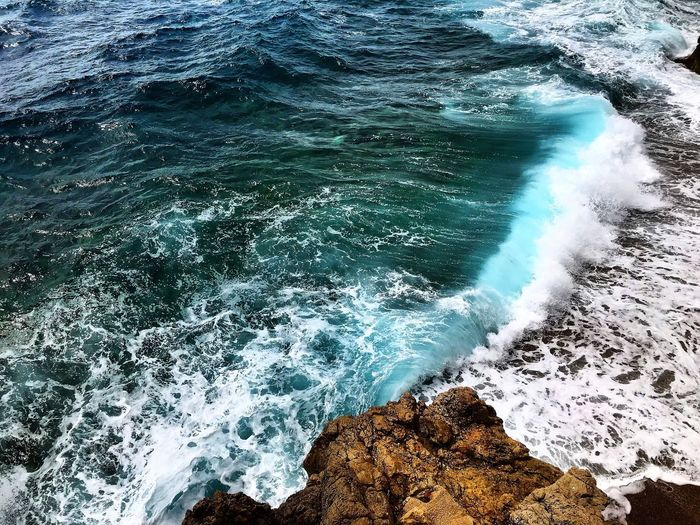 Sea Wave Water Nature Beauty In Nature Rock - Object Motion No People Day Power In Nature Outdoors Blue Scenics Crash Vagues Roches Vent Paysages Beauty In Nature Travel Destinations Nature Vague Paysage Photography Photooftheday Pics