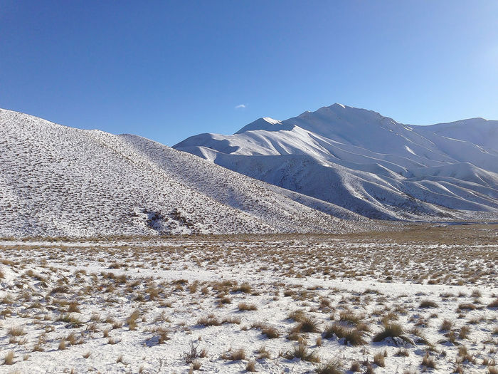 Amazing nature in New Zealand Mountain Scenics - Nature Snow Winter Cold Temperature Sky Beauty In Nature Tranquil Scene Environment Tranquility Mountain Range Landscape Clear Sky Day No People Non-urban Scene Nature Blue Land Snowcapped Mountain Outdoors Arid Climate Climate Nature