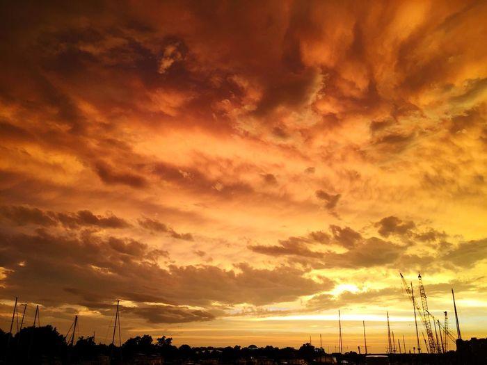 Gangplank Marina Storm Clouds Orange OpenEdit IPhoneography Boats Washington, D. C. Sky