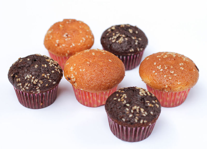 Cupcakes Baked Burger Close-up Cupcake Dessert Donut Food Food And Drink Freshness Glazed Food Hamburger Indoors  Indulgence Muffin No People Ready-to-eat Sprinkles Studio Shot Sweet Food Temptation Unhealthy Eating White Background