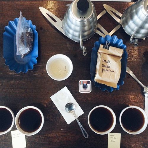 It's all about the aroma and slurping... CoffeeCuppingSession CommunePh Philippinecoffee