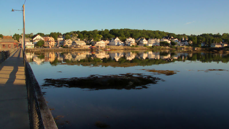 Boothbay Harbor Maine Architecture Building Exterior Built Structure City Clear Sky Day Nature No People Outdoors Reflection River Sky Town Tree Water