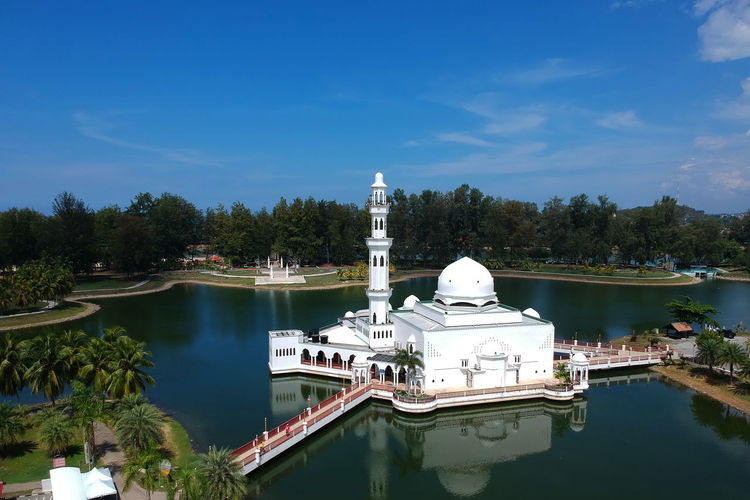 Architecture Belief Building Exterior Built Structure Day Dome Lake Nature No People Outdoors Place Of Worship Plant Religion Sky Spirituality Travel Travel Destinations Tree Water