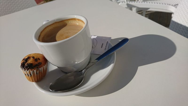 Drink Coffee - Drink Table Coffee Cup High Angle View Espresso Close-up Food And Drink