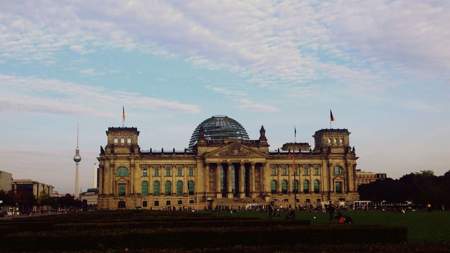 The Reichstag Against Sky