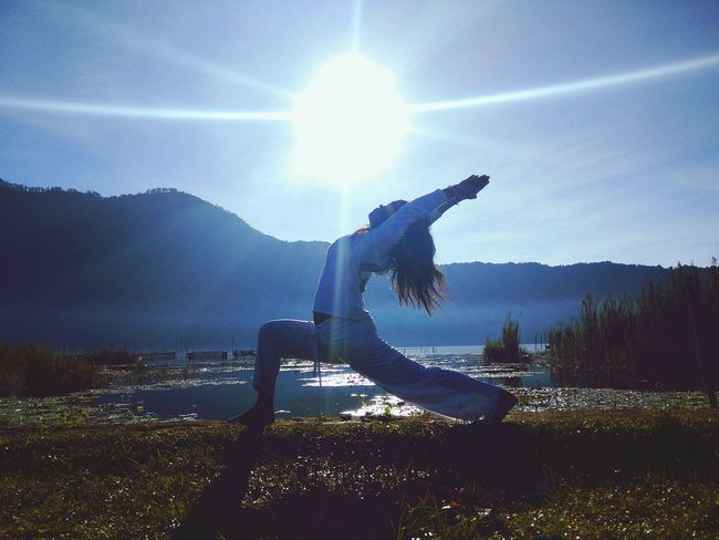 Namaste People Nature Sky Outdoors Yoga Yoga Pose Only Women